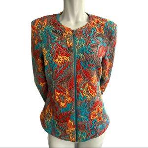 Linea Domani Multicolour Textured Knit Jacket 8